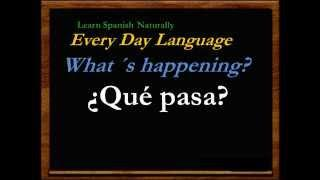 Free Spanish Lessons Tutorials Learn  Español Basic Everyday Language (IV-4)