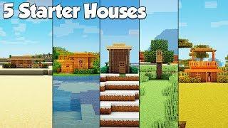 Minecraft: 5 Starter House Build Hacks & Ideas - Tutorial