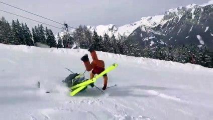 Ski _ ils se foncent dedans en pleine descente !
