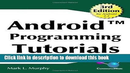 Ebook Android Programming Tutorials, 3rd Edition Free Online