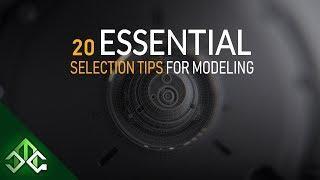 Blender Tutorial   20 Essential Selection Tips For Modeling