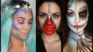 Maquillajes Fáciles para Halloween Tutorial Compilación - Easy Halloween Makeup Compilation 2017