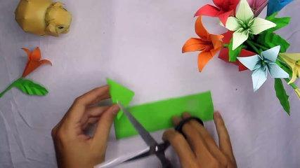 DIY greenery | how to make a origami greenery tutorial easy by step Vert de bricolage | comment fair
