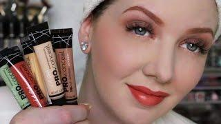 Full Face Tutorial Using ONLY Color Correctors & Concealers