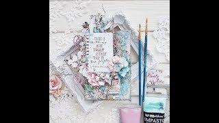 Step-by-step Tutorial mixed media canvas for Dusty attic