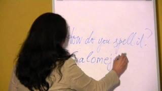 Anglų Kalba. 1 Pamoka