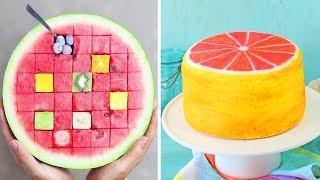 Orange Cake & Watermelon Cake Tutorial