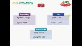 Easy Lithuanian: Dipthongs And Their Stress