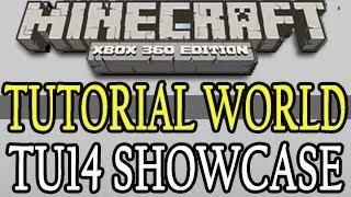 Minecraft ( TU14 ) Xbox 360 Tutorial World Showcase Title Update 14
