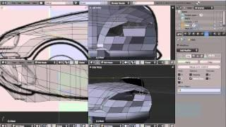How To Model A Car In Blender 2.50 TUTORIAL Italian Version, Part 3