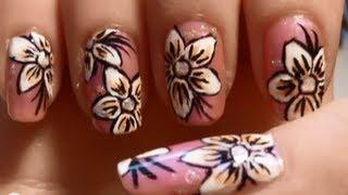 Prom Flower Nail Art Tutorial [Color Changing Polish]