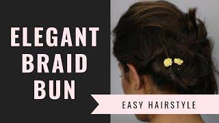 Elegant Bun Hairstyles Tutorial (Hindi) - Braid Bun