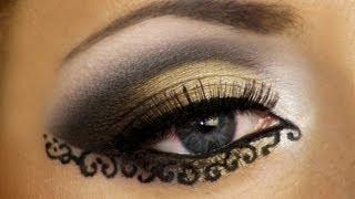 Lace Makeup Look Tutorial (Arabic Makeup) / Арабский макияж