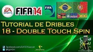 FIFA 14 - Tutorial De Dribles 18 - NOVA SKILL - Double Touch Spin | PORTUGUÊS