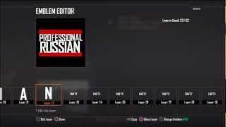 BLACK OPS 2 EMBLEM TUTORIALS: FPS Russia: Professional Russian