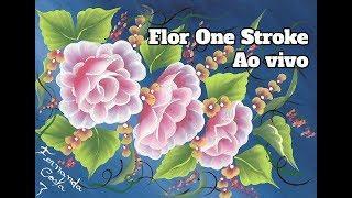 TUTORIAL FLOR EM TRAÇO ÚNICO AO VIVO / LIVE ONE STROKE FLOWER TUTORIAL