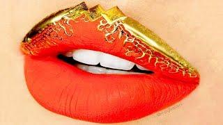 23 DIY Lipstick Tutorial Compilation - Viral Lip Art Makeup for Beginners