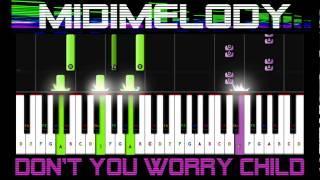 Don't You Worry Child Piano Tutorial 50% SPEED Swedish House Mafia