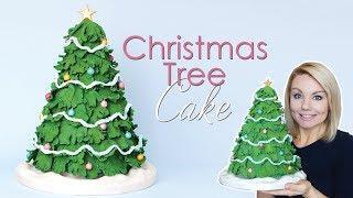 How to make a Christmas Tree Cake Tutorial