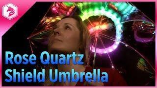 Rose Quartz Shield Umbrella Tutorial @adafruit #adafruit @cartoonnetwork #stevenuniverse