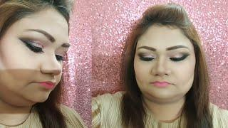 Pink Glam Cat Smokey Eyes Makeup Tutorial |full face makeup tutorial | pink smokey eye | Nazia Khan