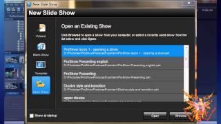 Proshow Tutorial Italian - 1-1 - Creare O Aprire Uno Show