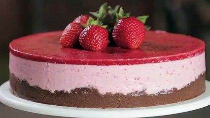 No-Bake Strawberry Cheesecake (free recipe) _ Dessert Tutorial with Zoë François_HD