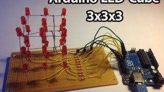 Arduino - LED Cube 3x3x3 [Full Tutorial]