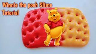 Cara membuat Winnie the pooh slime tutorial