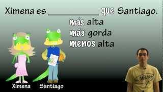 01 Spanish Lesson - Comparisons (part 1): Más/menos ___ Que