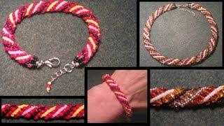 Beading4perfectionists : Russian Spiral Seedbead Bracelet Beginners Beading Tutorial