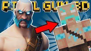 HOW TO MAKE RAGNAROK in PIXEL GUN 3D! (Fortnite Skin Tutorial)