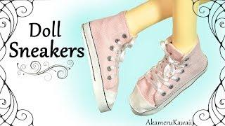 How to: Cute Doll Sneakers - DIY BJD / Barbie Shoe Tutorial