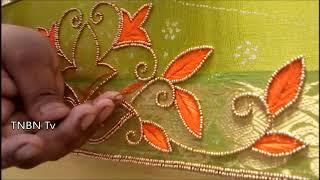 maggam work tutorial for beginners, latest maggam work blouse designs 2017,basic embroidery stitches