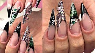 Nail Art For Long Nails Tutorial - Top Nail Art Compilation - The Best Nail Art Designs & Ideas