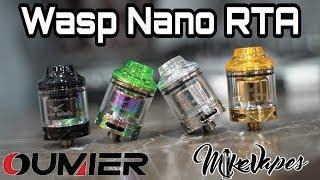 Wasp Nano RTA By Oumier Review - Coil & Wicking Tutorial