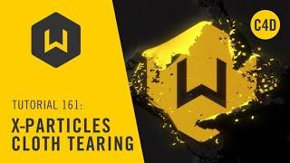 Making a cloth tearing effect in Cinema 4d and X-Particles  Tutorial: 161 X-Particles cloth tearing