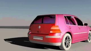3D Studio Max - Golf 4 Bulgarian Style Part 1 HD