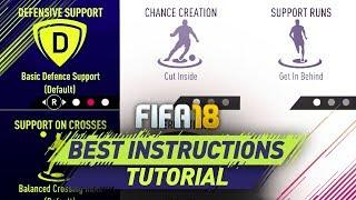 FIFA 18 BEST CUSTOM INSTRUCTIONS TUTORIAL - BEST ATTACK & BEST DEFENSE - TIPS & TRICKS