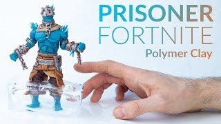 Prisoner from Snowfall Challenge (Fortnite Battle Royale)  – Polymer Clay Tutorial