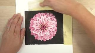 Watercolor Zinnia Tutorial - how to draw and paint it