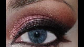 Makeup Tutorial: Cranberry, Gold And Black Arabic Look