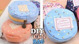 DIY TEXTILE ROUND POUCH BAG // Cute Zipper Mini Bag Tutorial