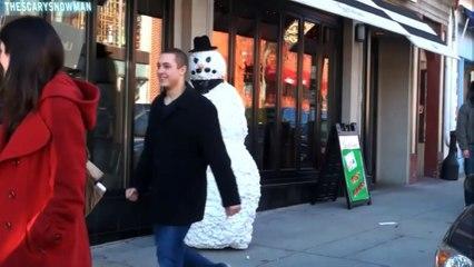 Funny Scary Snowman Hidden Camera Practical Joke