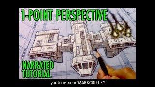How to Draw Using 1-Point Perspective [Narrated Tutorial]