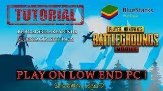 PUBG MOBILE on low End pc Using BlueStacks ( Tutorial ) ll  ShreeMan LegenD