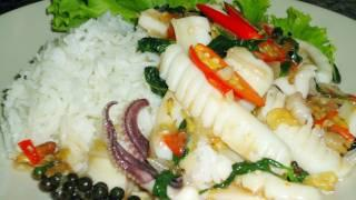 Thai Food Cooking Tutorial: Phad Cha! (with Pla Muek)