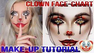 IT PENNYWISE Clown / Harley Quinn (3 PRODUCT HALLOWEEN Tutorial)