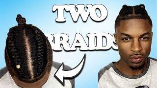 GF Does BF's Hair -TWO BRAID MAN BUN TUTORIAL   Tiara and Kalon