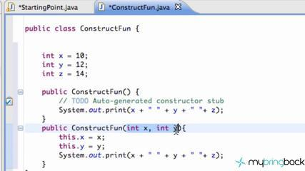Learn Java Tutorial 1.47- Constructors With This(arg);